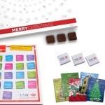 Adventi naptárak emblémázott reklám édességek