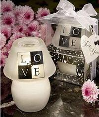 Esküvői ajándékgyertyák