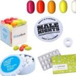Rágók feliratozott reklám édességek