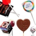 Nyalókák logózott reklám édességek