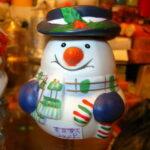 Hóember ünnepi dekor gyertyák